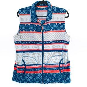 NEW Woolrich Vest Size Large Fleece Printed Andes
